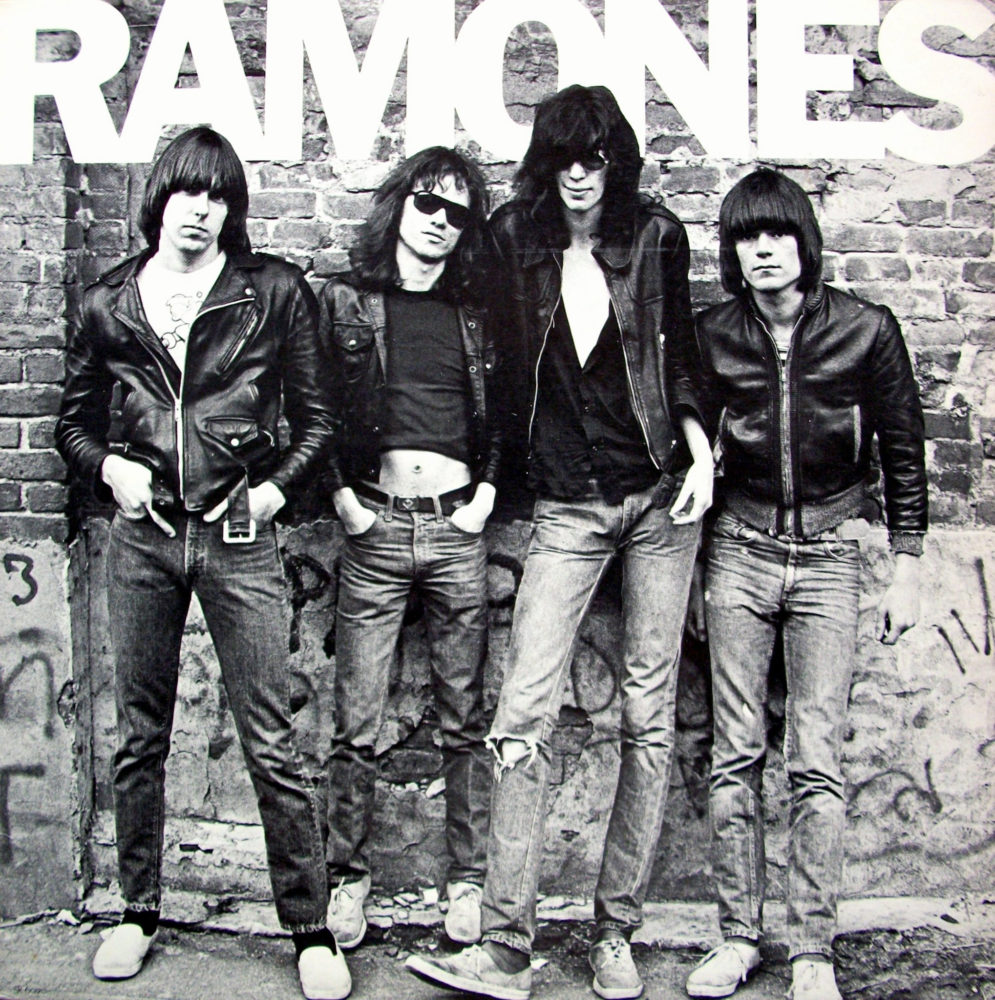 The Ramones self-titled debut album: Another awesome quartet that would have turned 40 this year (RIP Joey!)